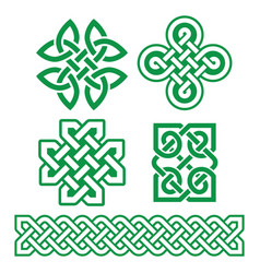 celtic irish patterns and braids - design vector image