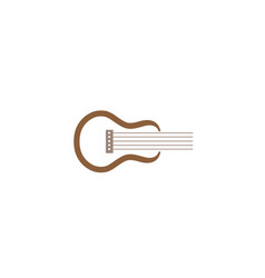 classical guitar symbol for logo design vector image