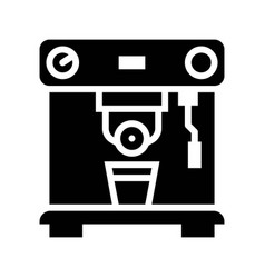 Coffee machine coffee related solid style vector