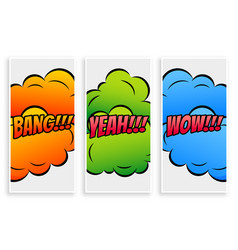 comic text banners in different expressions vector image