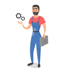 conceptual master or foreman with instruments vector image