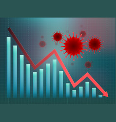 Coronavirus impact on global economy vector