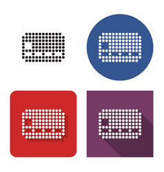 dotted icon bank card in four variants with vector image