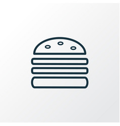 double burger icon line symbol premium quality vector image