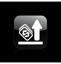 earning increase icon vector image vector image