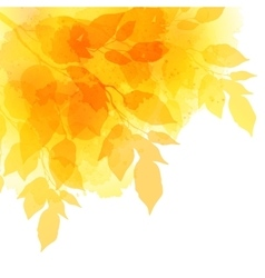 Fall leafs watercolor background vector image