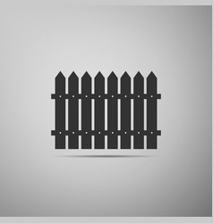 Fence flat icon on grey background vector