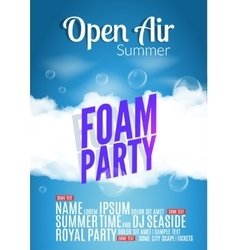 Foam Party summer Open Air Beach foam party vector
