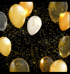 Gold balloon background vector