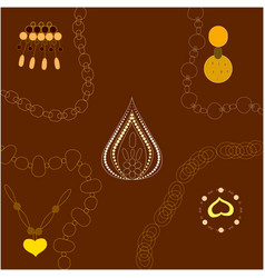 Gold jewellery decor vector