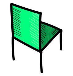 green chair on white background vector image