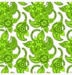 Green color line seamless design vector image