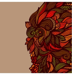Hand drawn brown pattern vector image