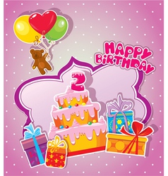 happy birthday 2year 380 vector image vector image