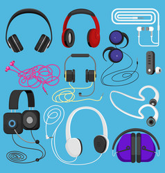 headphones headset to listen vector image