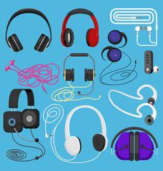 Headphones headset to listen vector