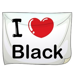 I love black vector image