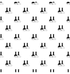 Laboratory flasks pattern simple style vector image