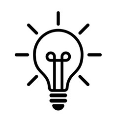 light bulb icon isolated on white vector image