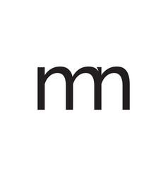 m n letter logo vector image