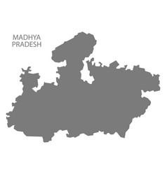 Madhya pradesh india map grey vector
