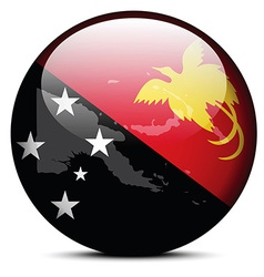 Map on flag button independent state papua new vector