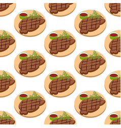 meat steak pattern vector image