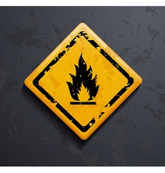 Metal sign fire vector