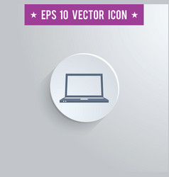 notebook symbol icon on gray shaded background vector image