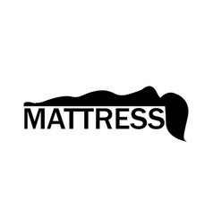 orthopedic mattress logo silhouette woman vector image