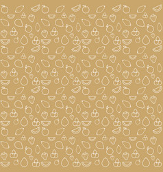 pattern fruits brown background vector image