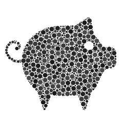 Piggy composition of dots vector