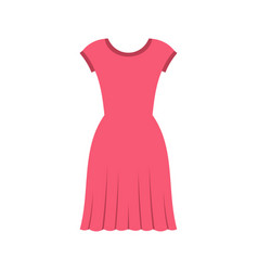 Pink dress icon flat style vector