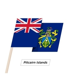 Pitcairn Islands Ribbon Waving Flag Isolated on vector image