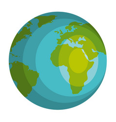 planet earth isolated icon vector image