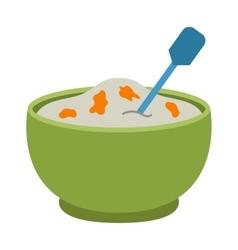 Porridge plate vector image