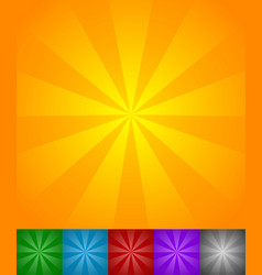 radiating lines sun star burst backgrounds set of vector image