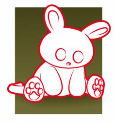 sad rabbit vector image vector image