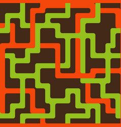 Seamless pattern with interlacing orange and vector