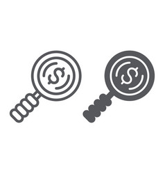 search money line and glyph icon finance and vector image