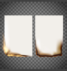 set burning sheet vector image