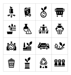 Set icons of recycling vector image