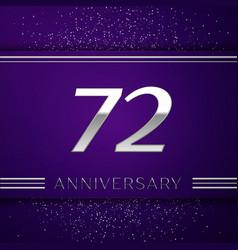 Seventy two years anniversary celebration design vector