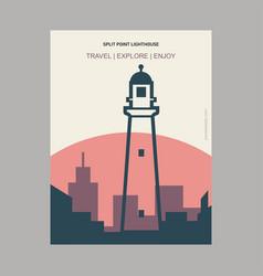 Split point lighthouse victoria australia vintage vector