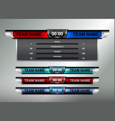Sport scoreboard design elements vector