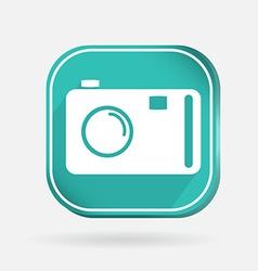 square icon photo camera vector image