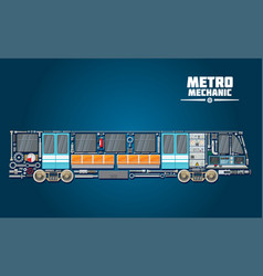 Subway train parts icon for metro mechanic concept vector