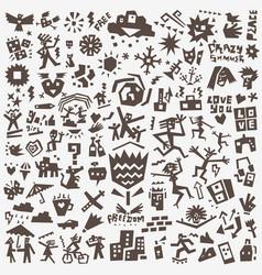 summer symbols - icon set design elements vector image