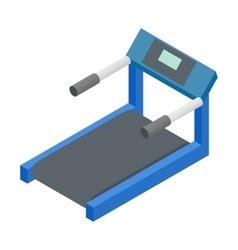 Treadmill 3d isometric icon vector