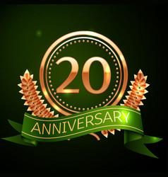 twenty years anniversary celebration design vector image
